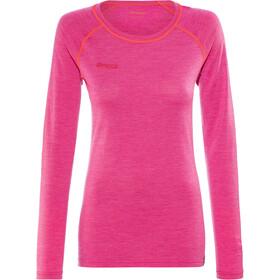 Bergans Cecilie Wool T-shirt à manches longues Femme, bougainvillea melange/strawberry
